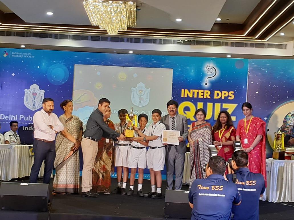 इंटर डीपीएस प्रष्नोत्तरी प्रतियोगिता में  डीपीएस, उदयपुर का सर्वश्रेश्ठ प्रदर्षन