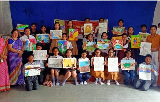 श्लोक आधारित चित्रकला प्रतियोगिता का आयोजन