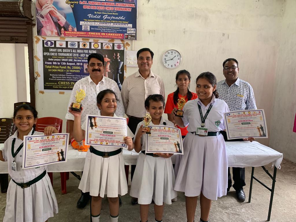 डीपीएस, उदयपुर का लेकसिटी शतरंज प्रतियोगिता में शनदार प्रदर्षन