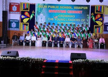 दिल्ली पब्लिक स्कूल उदयपुर की छात्र परिषद का शपथग्रहण समारोह