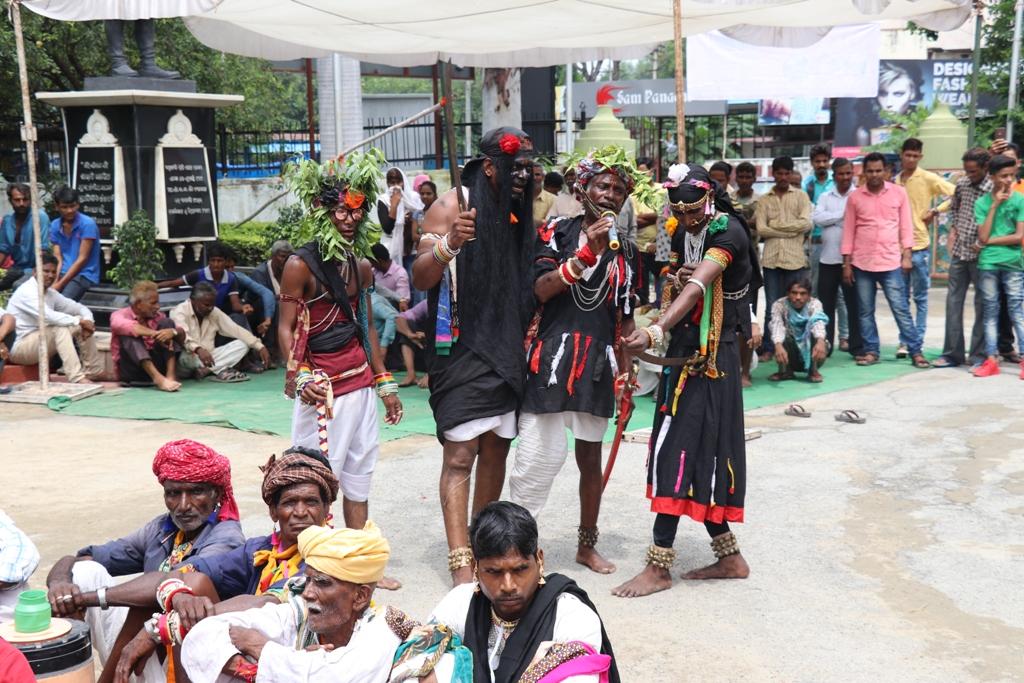 भारतीय लोक कला मण्डल में गवरी नृत्य समारोह