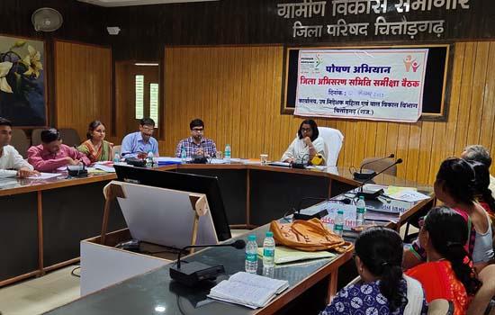 महिला एवं बाल विकास विभागीय जिला अभिसरण समिति की बैठक