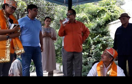 गोरवी सिंघवी का फतेहसागर पर सार्वजनिक अभिनंदन