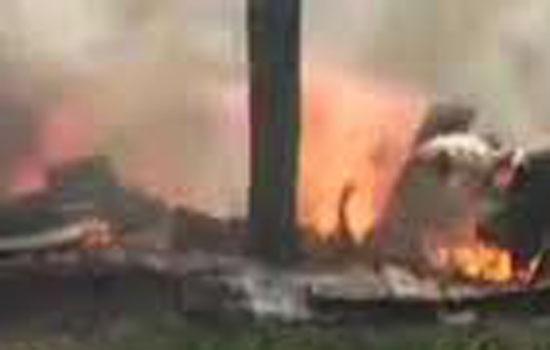 पोपायन के नज़दीक एक विमान दुर्घटनाग्रस्त