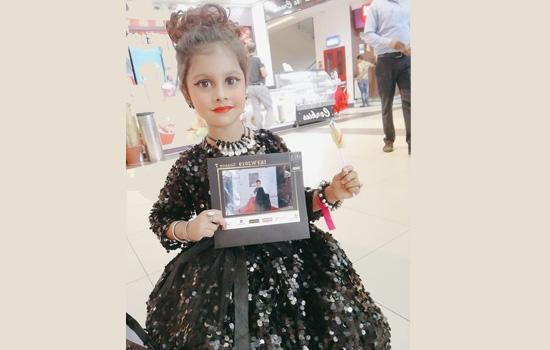 उदयपुर की लाडो नेइंडिया किड्स फैशन वीक सीजन 7 में पिंक ब्लु ब्रांड के लिए जयपुर में किया रैंप वॉक
