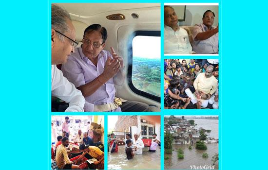 मुख्यमंत्री ने जलभराव प्रभावित जिलों का किया एरियल सर्वे