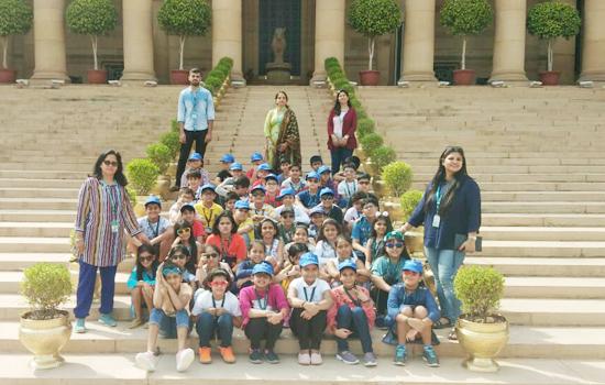 डीपीएस, उदयपुर के छात्रों का राष्ट्रीपति भवन में शैक्षिक भ्रमण