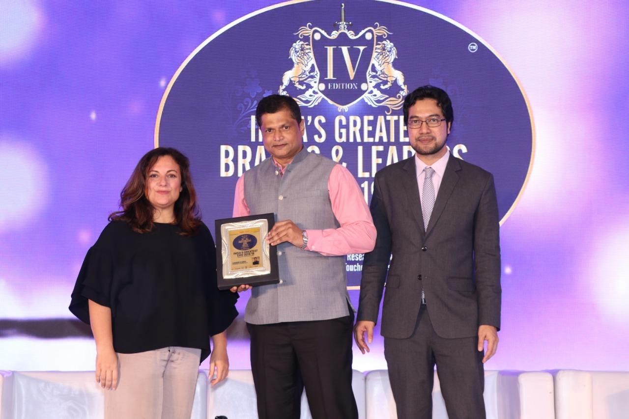 संदीप सिंह भारत के सबसे बड़े ब्रांड्स और लीडर्स अवार्ड से सम्मानित