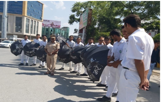 डीपीएस, उदयपुर की यातायात जागरूकता अभियान में सहभागिता