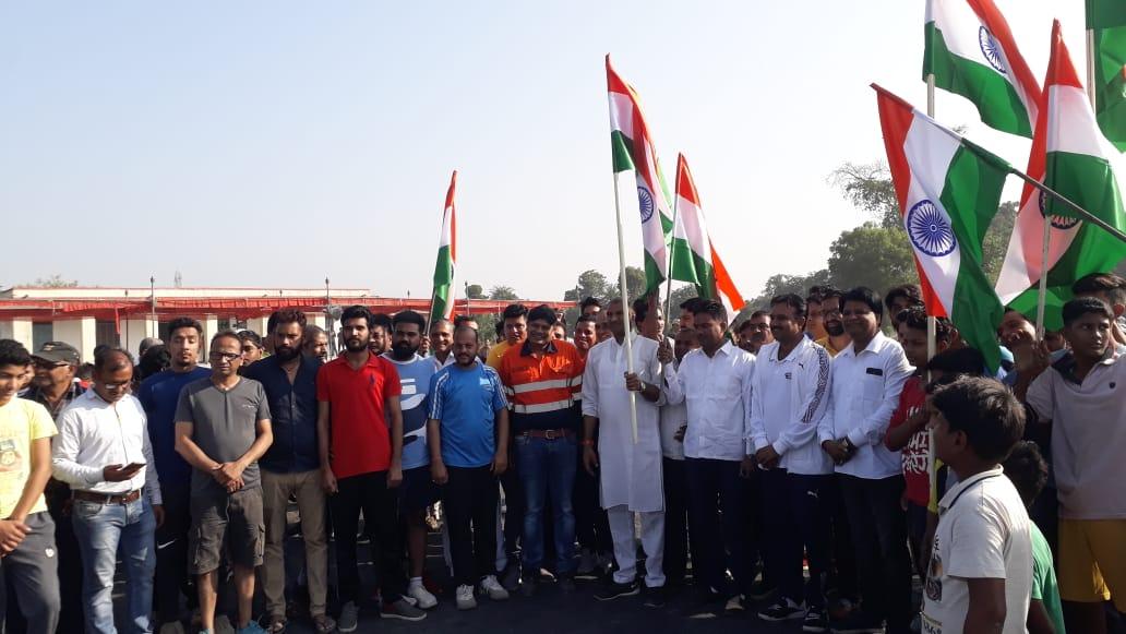राष्ट्रीय एकता दिवस पर सेगवा में एथलीट ट्रेक का लोकार्पण