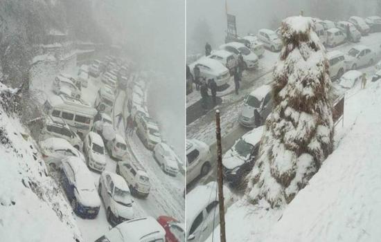 उत्तर भारत के कुछ हिस्सों में बर्फबारी और बरसात