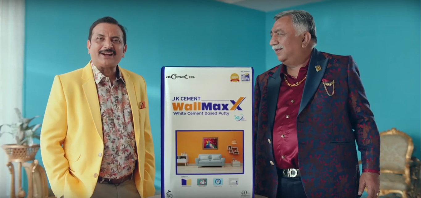 JK Cement re-launchesits iconic brand JK Wall Putty with anew identity: JK Cement WallMaxX