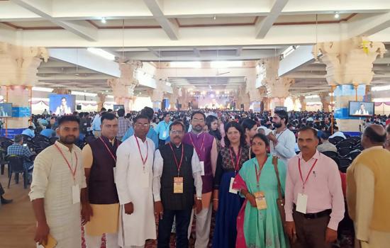 """दिल्ली में आयोजित तीन दिवसीय """"विश्व संस्कृत सम्मेलन"""" में उदयपुर से दस सदस्यीय प्रतिनिधि मंडल ने भाग लिया"""