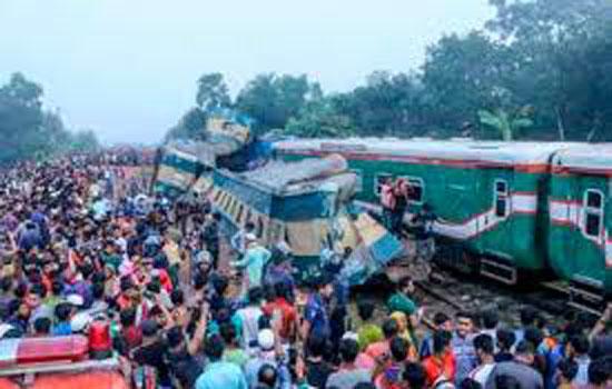 बांग्लादेश ट्रेन हादसे में 15 लोगों की मौत