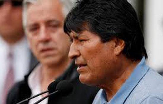 एवो मोरालेस राजनीतिक शरण लेने के लिए कल मैक्सिको पहुंचे