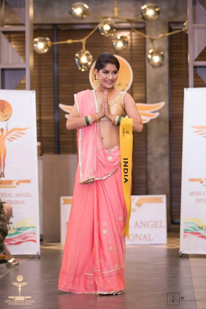 जया मीणा ने मिस क्रिस्टल एंजेल इंटरनेशनल में रनर अप