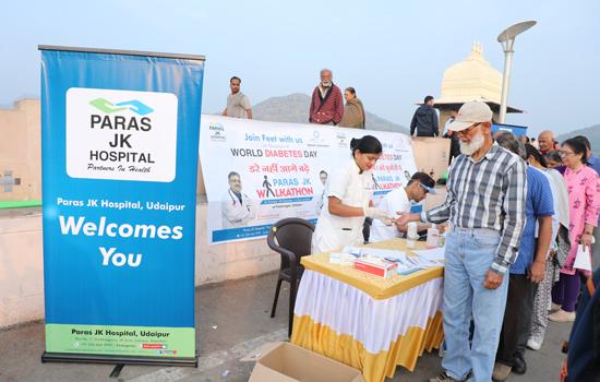 पारस जेके हॉस्पिटल द्वारा मधुमेह दिवस पर  जागरूकता कार्यक्रम व शिविर आयोजन