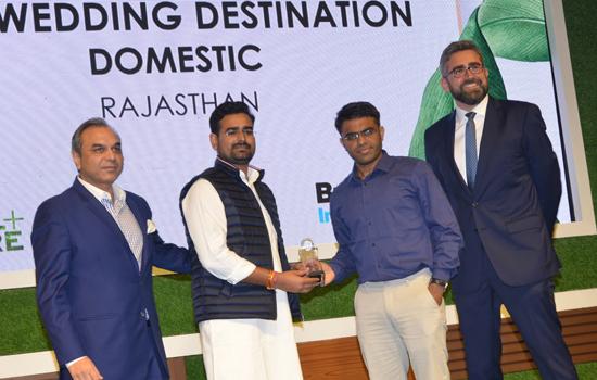 राजस्थान को मिला बेस्ट वैडिंग डेस्टिनेशन अवार्ड