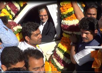 डॉ सीपी जोशी एवं खल राज्य मंत्री अशोक चांदना के उदयपुर आगमन पर हुआ भव्य स्वागत
