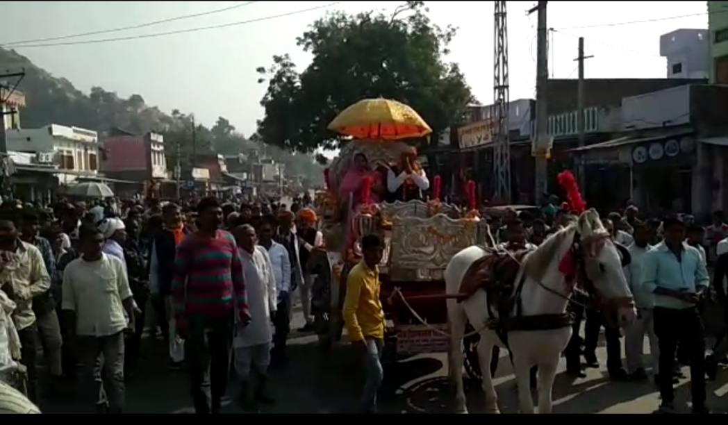 पंचायत समिति बनने पर शोभायात्रा के साथ मीणा का किया भव्य स्वागत