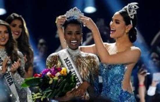 दक्षिण अफ्रीका की ज़ोजि़बिनी टुन्ज़ी मिस यूनिवर्स 2019 चुनी गयी