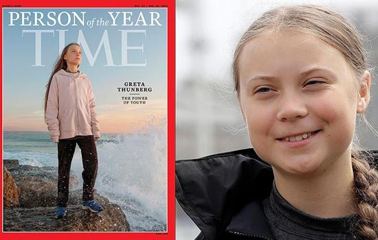 स्वीडन की 16 वर्षीय ग्रेटा थुनबर्ग टाइम पत्रिका 2019 का परसन ऑफ द ईयर घोषित