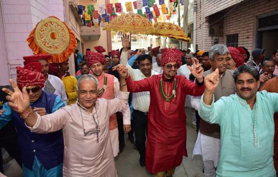 छः रि पालक संघ का आज विश्राम पावापुरी में मालगांव में हुआ भव्य स्वागत