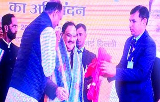सांसद जोशी ने लिया भाजपा के राष्ट्रीय अध्यक्ष के पदभार ग्रहण कार्यक्रम में भाग