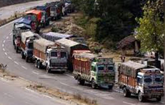 जम्मू-श्रीनगर राष्ट्रीय राजमार्ग पर यातायात बंद
