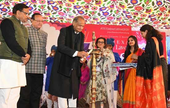 राजस्थान के मुख्यमंत्री ने किया जयपुर लिटरेचर फेस्टिवल का शुभारंभ