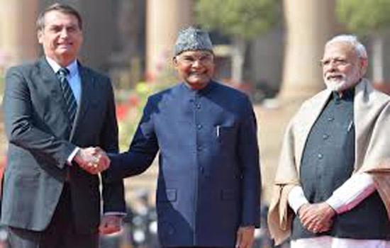 प्रधानमंत्री नरेन्द्र मोदी और ब्राजील के राष्ट्रपति ज़ाईर मेसियस बोल्सोनारो के बीच नई दिल्ली में वार्ता सम्पन्न