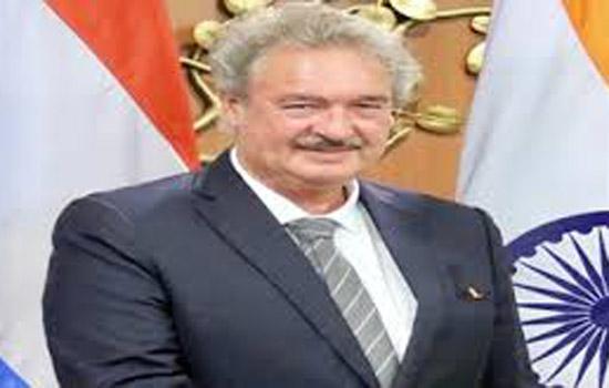 लग्ज़मबर्ग के विदेश मंत्री भारत की तीन दिन की यात्रा पर नई दिल्ली पहुंचे