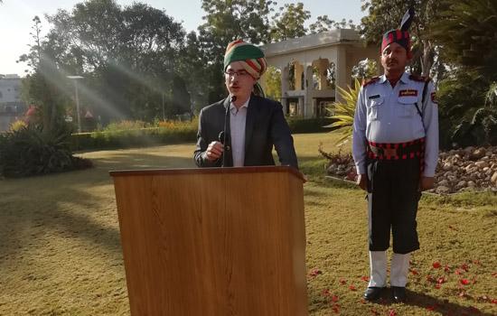 हिन्दुस्तान जिंक के प्रधान कार्यालय में हर्षोउल्लास से मनाया ७१वां गणतंत्र दिवस समारोह