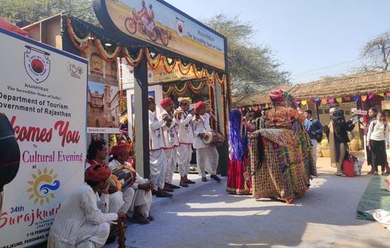 सूरजकुंड हस्तशिल्प मेले में राजस्थान मंडप बना आकर्षण का केन्द्र
