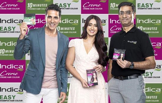 """केविनकेयर के""""इनोवेटिव हेयर कलर ब्रैंड""""इंडिका ने अक्षय कुमार और इलियाना डिक्रूज को अपना ब्रैंड एंबेसेडर बनाया"""