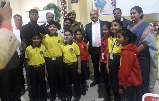 एपीसी विद्यालय में विधिक साक्षरता शिविर का आयोजन एवं  बाल फिल्म का प्रदर्शन