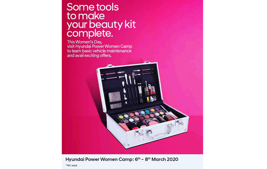 Hyundai Power Women Camp from 6-8 March
