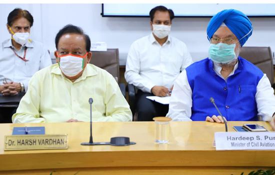 डॉ. हर्ष वर्धन ने अधिक मामलों वाले इलाकों और मृत्यु के मामलों में और कमी लाने के प्रबंधन पर विशेष ध्यान देने पर बल दिया