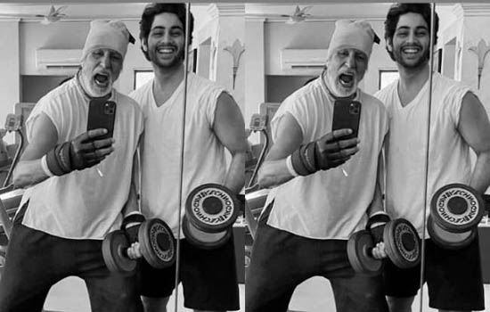 अमिताभ बच्चन 77 साल के हो गये हैं लेकिन फिटनेस में 19 साल के नाती को टक्कर देते हैं