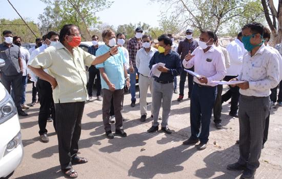 स्वायत्त शासन मंत्री ने किया विकास कार्यो का मौका निरीक्षण