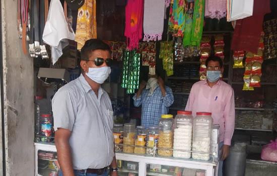 रसद विभागीय अधिकारियों ने किया राशन की दुकानों का औचक निरीक्षण