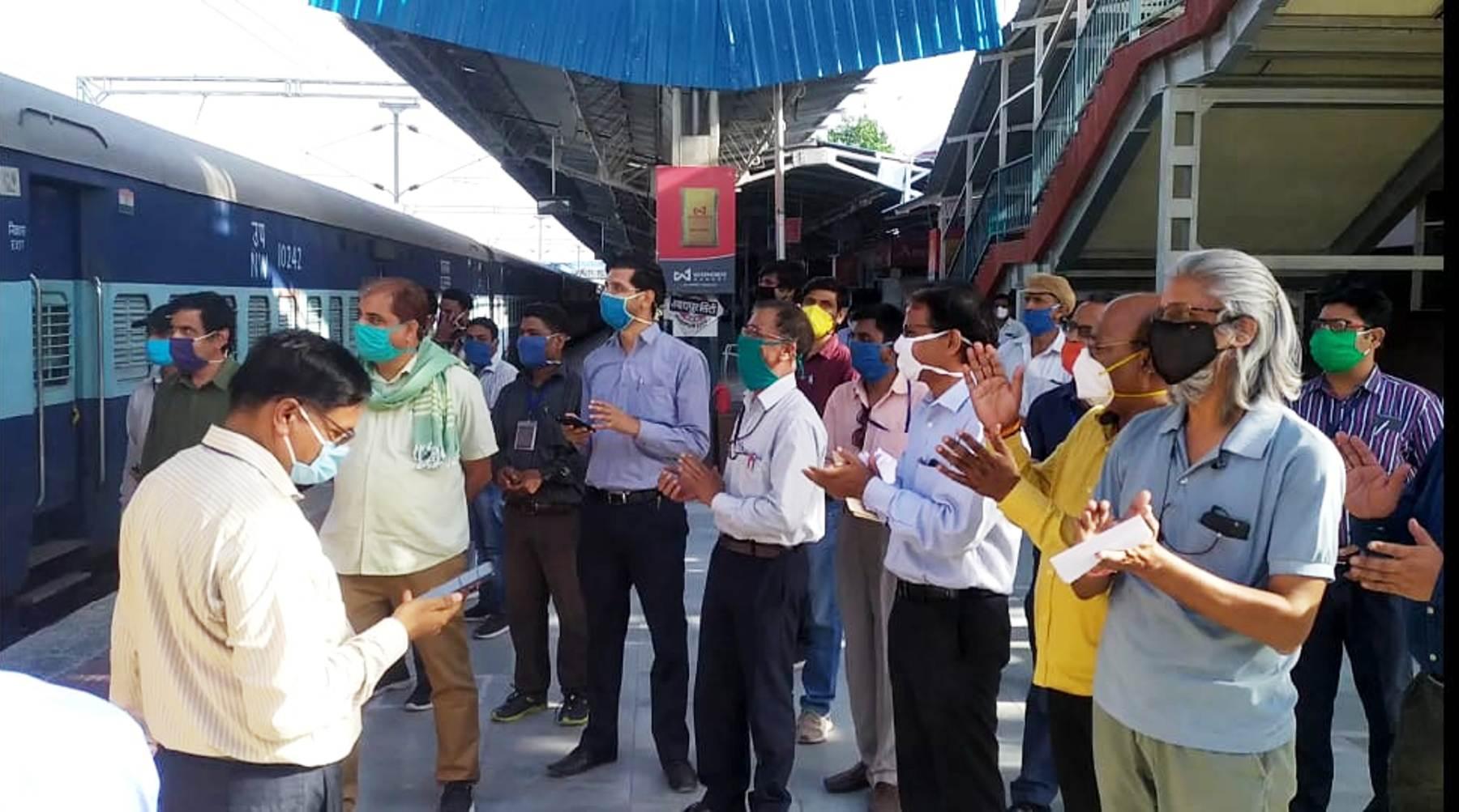 उदयपुर से बिहार के लिए रवाना हुई प्रवासियों की ट्रेन
