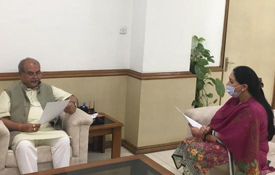 सांसद दीयाकुमारी ने कृषि मंत्री नरेंद्र सिंह तोमर से दिल्ली में की मुलाकात