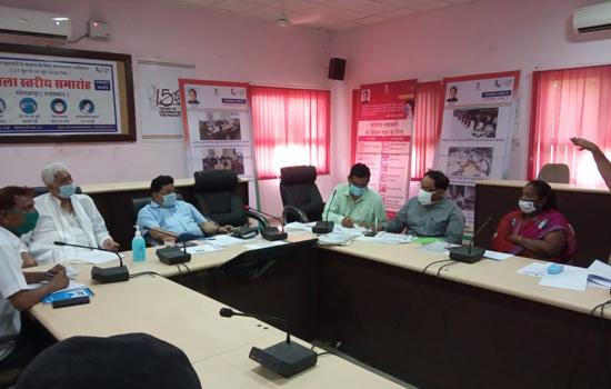 सडक सुरक्षा एवं यातायात प्रबंधन समिति की आयोजित बैठक