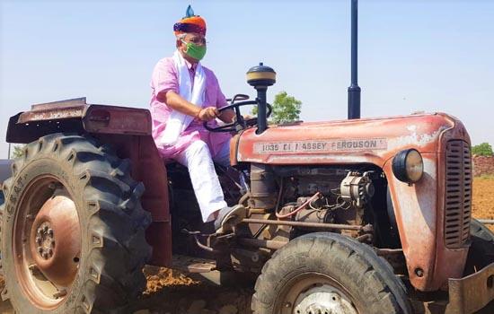 पाली सांसद पी पी चौधरी ने किसानों की समस्याओं को केन्द्र ओर राज्य सरकार के सामने रखा