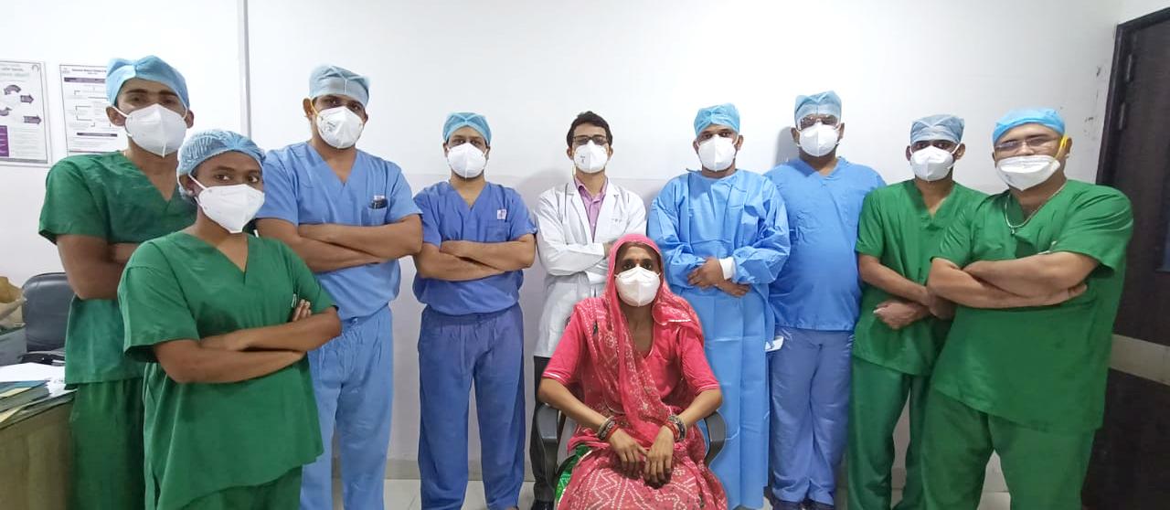 गीतांजली कैंसर सेंटर में हुआ फेफड़े में कैंसर का सफल ऑपरेशन