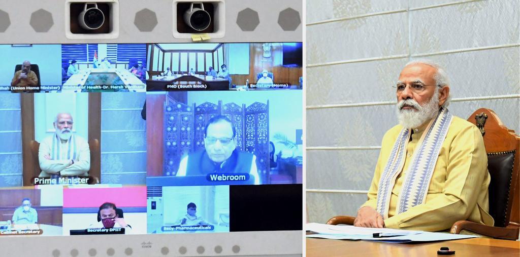 प्रधानमंत्री ने कोविड-19 महामारी से संबंधित तैयारियों पर समीक्षा बैठक की