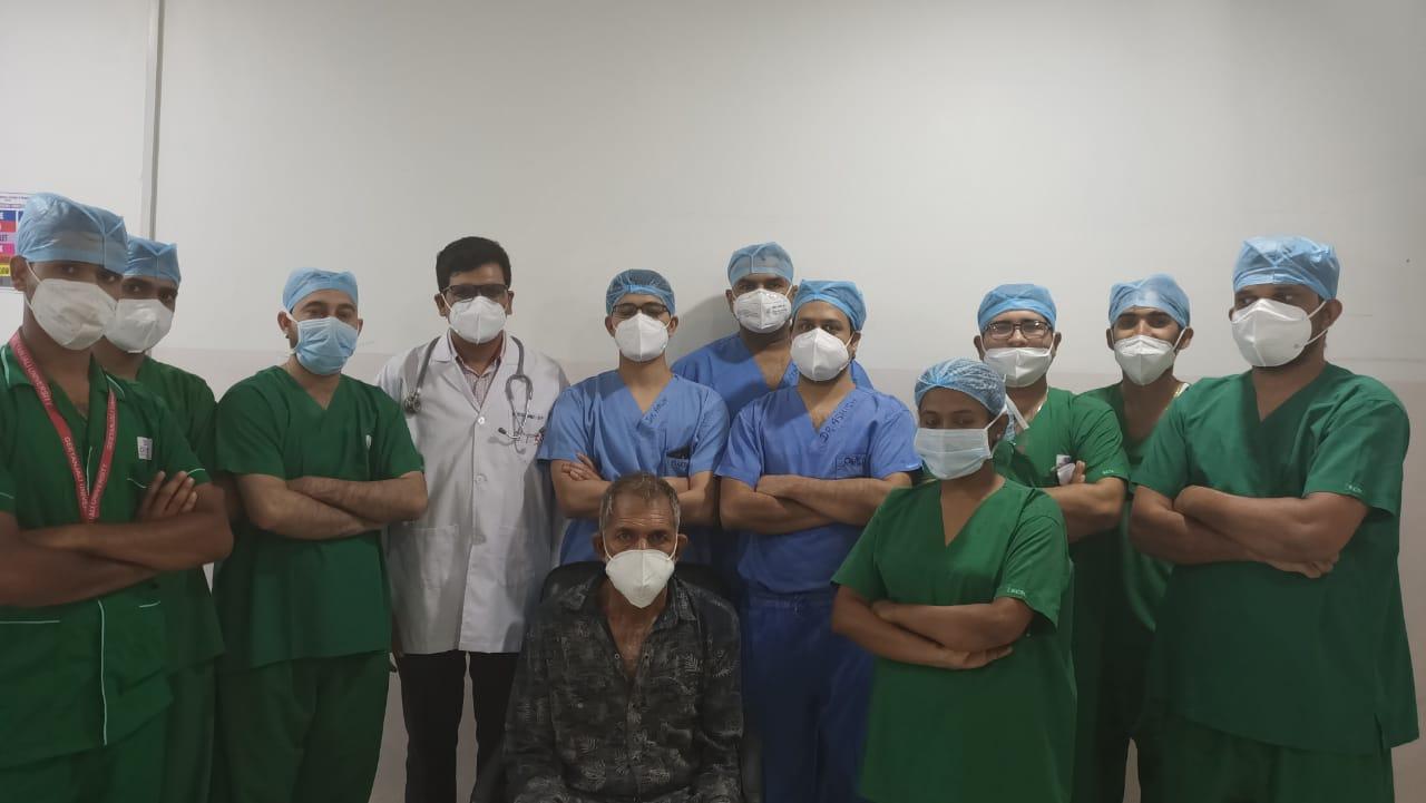 पेरीऑपरेटिव इंटरस्टिशियल ब्रेकीथेरेपी द्वारा हुआ  कैंसर की गांठ का सफल इलाज