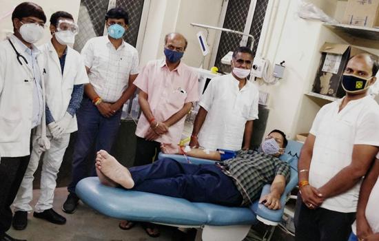कोरोना मरीजों को प्लाज्मा थैरेपी से कोटा में उपचार शुरू