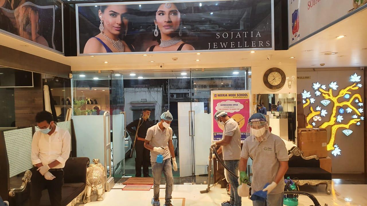 सोजतिया ज्वेलर्स बना उदयपुर का पहला एंटी-कोविड नैनो कोटेड शोरूम